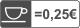 0,25 senti/tk